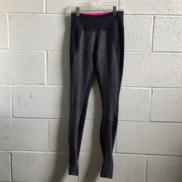 lululemon athletica Pants - Lululemon indigo & gray full length legging sz 2